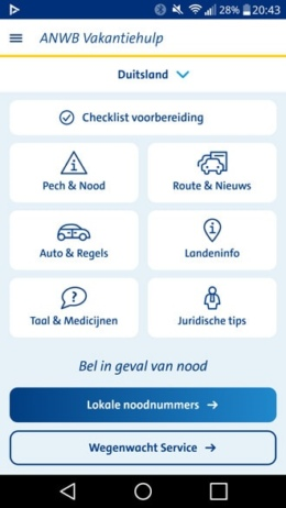 ANWB Vakantiehulp app