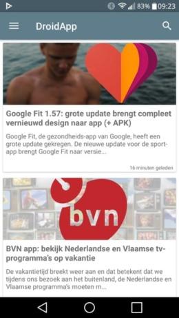 DroidApp App 2.0