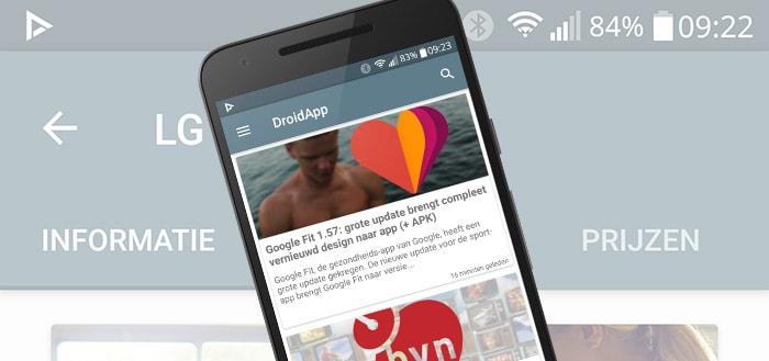 DroidApp App update: versie 2.1 brengt nieuwe verbeteringen