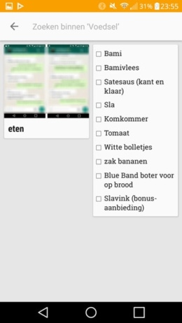 Google Keep categorie