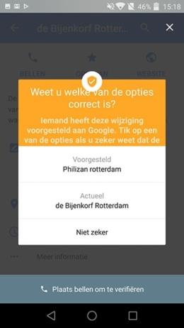 Google Maps naam