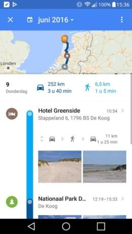 Google Maps tijdlijn oud