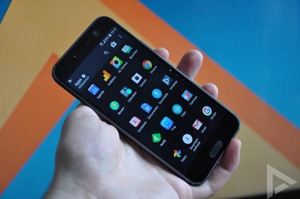HTC 10 menu