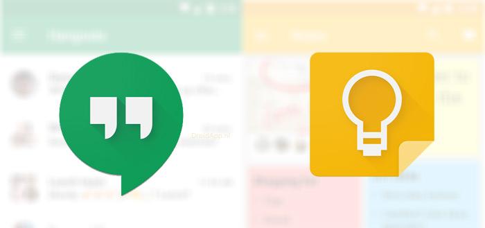 Google Hangouts 10.0 en update Google Keep uitgebracht met nieuwe functies