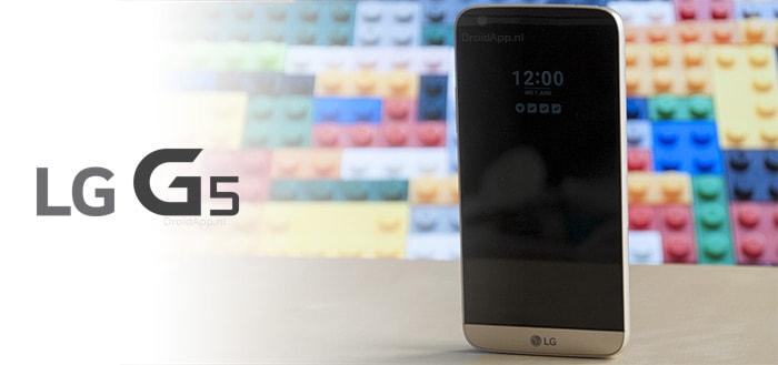 LG rolt onverwacht beveiligingsupdate oktober 2017 uit voor LG G5