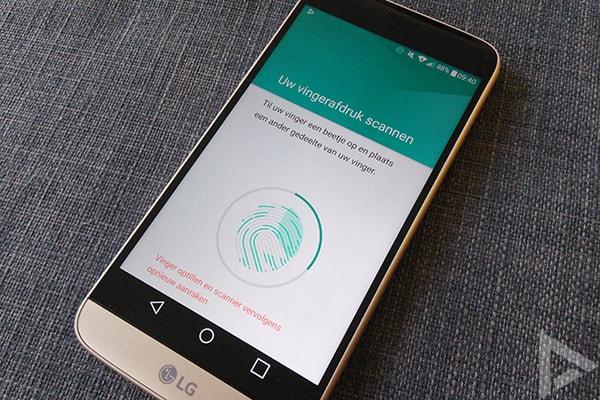 LG G5 vingerafdruk instellen