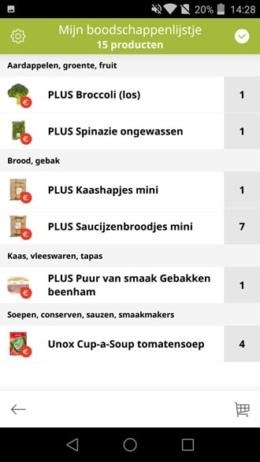PLUS app boodschappenlijstje