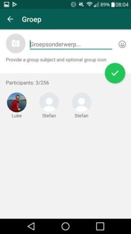 WhatsApp groep