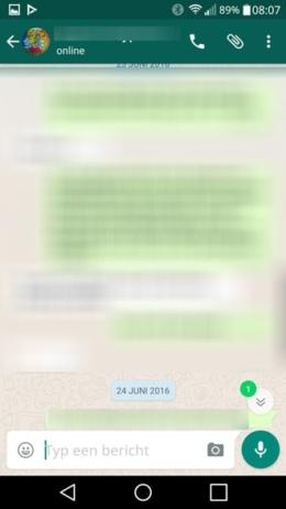 WhatsApp ongelezen berichten