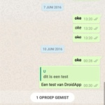 WhatsApp gemiste oproep