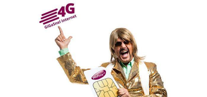 Provider Youfone verhoogt 4G-internetsnelheid