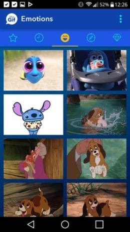 Disney GIF app