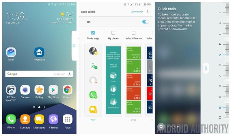 Galaxy Note7 Edge Panels