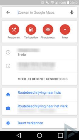 Google Maps icoontjes