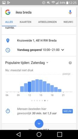 Google Now tijd bezoek