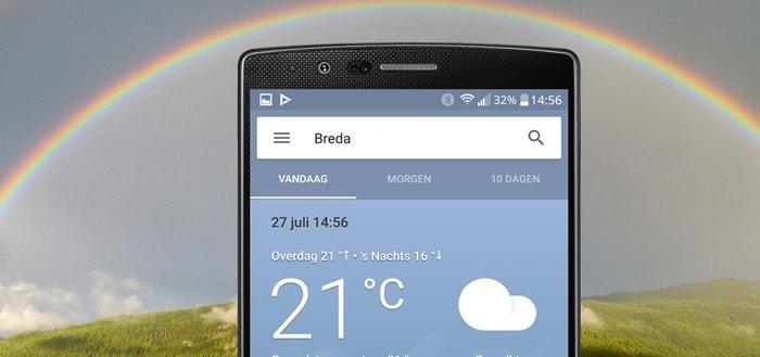 Google test nieuwe, kleine weerkaarten voor in Google App