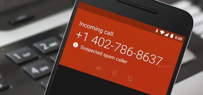 Spamdetectie in 'Google Telefoon' waarschuwt voor ongewenste oproepen