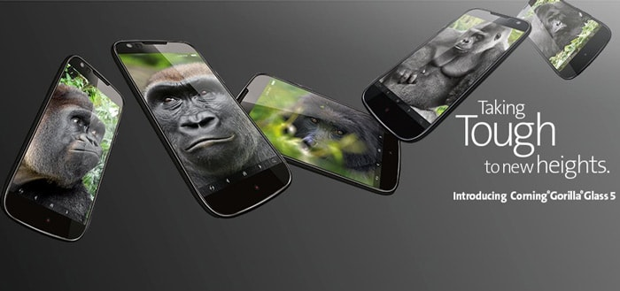 Corning Gorilla Glass 5 gepresenteerd; minder kans op kapot scherm bij hogere val