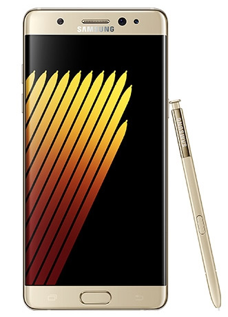 Samsung Galaxy Note7 goud