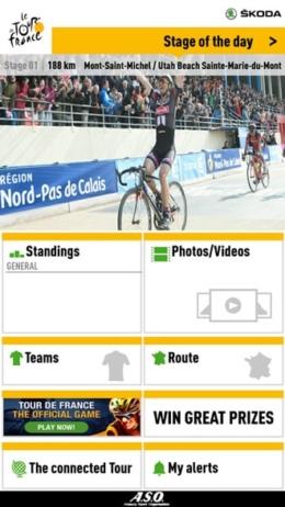 Tour de France 2016 app