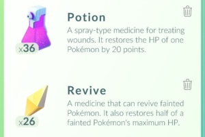 Pokémon GO Revive en Potion