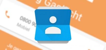 Google Contacten 1.5 app met labels en hamburger-menu (+ APK)