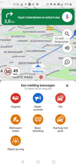 Google Maps melding toevoegen