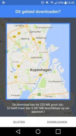 Google Maps offline downloaden