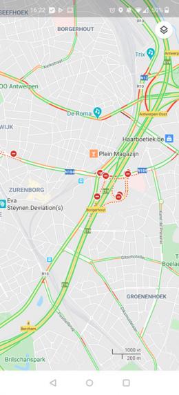 Google Maps verkeersdrukte