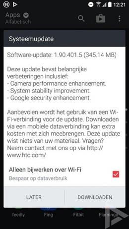 HTC 10 1.90.401.5 update