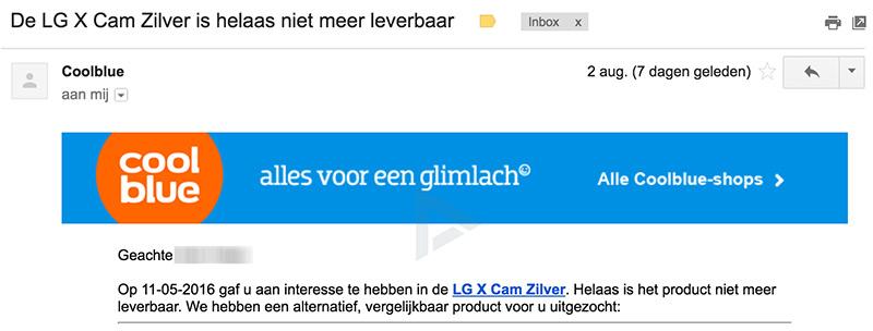 LG X Cam Nederland