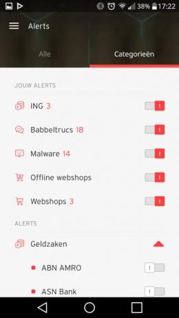 Opgelicht app alerts