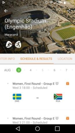 Rio 2016 app