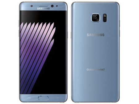 Samsung Galaxy Note7 blauw