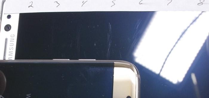 Samsung Galaxy Note7 beeldscherm erg gevoelig voor krassen