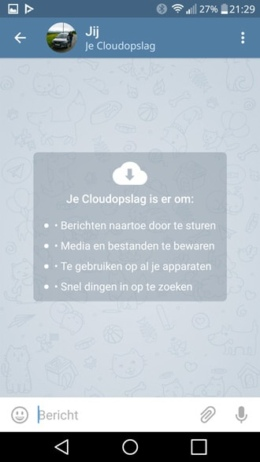 Telegram 3.11 cloudopslag