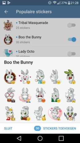 Telegram 3.11 stickers