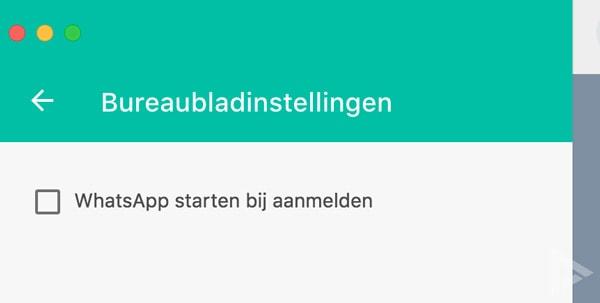 WhatsApp Desktop automatisch