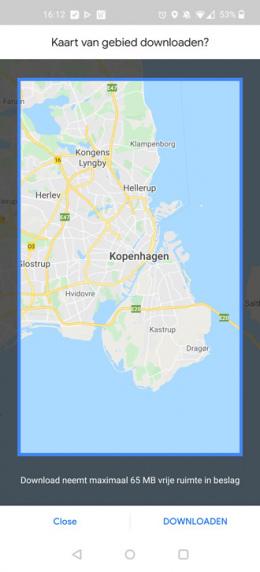 Google Maps kaart downloaden