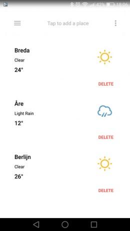 Forecast weer-app