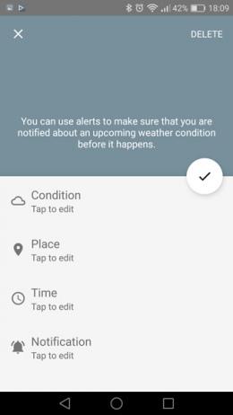 Forecast alert