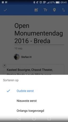 Google Foto's 2.0 sorteren