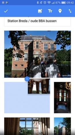 Google Foto's 2.0 albums sorteren