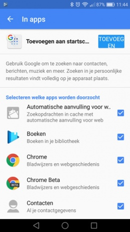 Google In apps