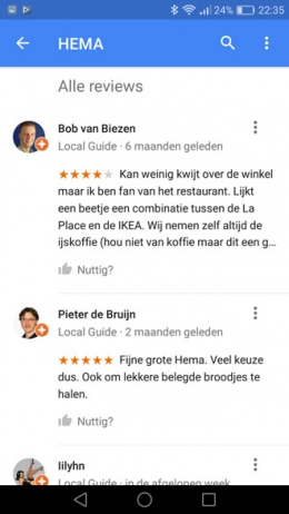 Google Maps 9.37 reviews