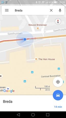 Google Maps gezichtsveld indicator