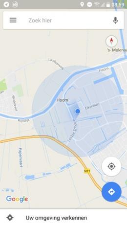 Google Maps kompas
