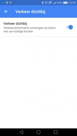 Google Maps verkeer dichtbij