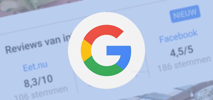 Google laat beoordelingen zien van andere platformen, zoals Facebook