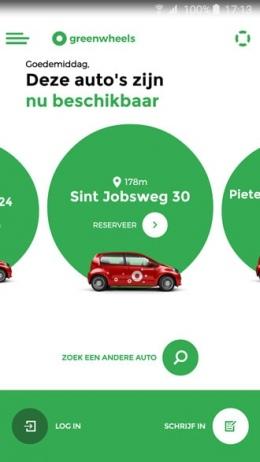 Greenwheels app